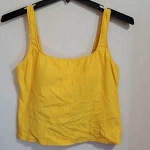 Yellow Tankini Swim Top